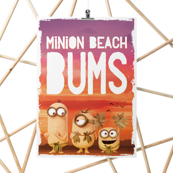 A3 Poster - Minions Beach Bums - Despicable Me/Minions