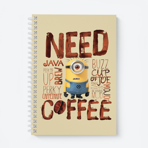 Wiro Notebook - Need Coffee - Despicable Me/Minions