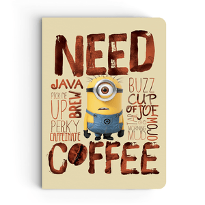 Notebook - Need Coffee - Despicable Me/Minions