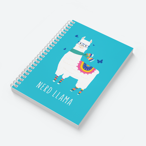 Love & Nerd Llama - Combo - Pack of 2 - Wiro Notebooks
