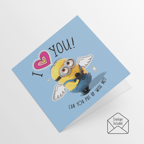 Minions Valentine's Day Cards - Pack of 5