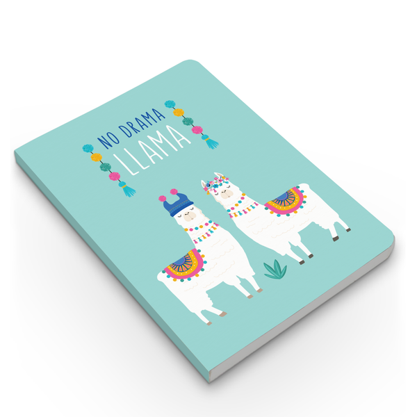 Happy Llama & No Drama Combo - Pack of 2 - Softbound Notebooks