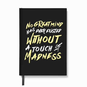 No Great Mind (Dark) - HardBound Quote Notebooks