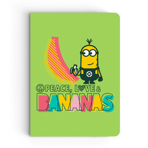 Notebook - Peace, Love & Banana - Despicable Me/Minions