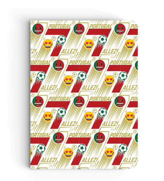 Limited Edition Notebook - Portugal 7 Pattern - Emoji Soccer Edition