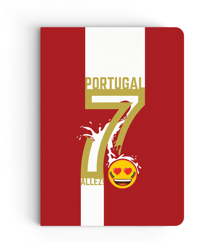 Limited Edition Notebook - Portugal 7 - Emoji Soccer Edition