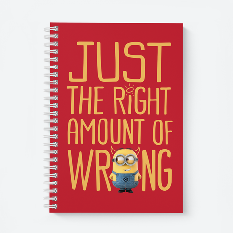 Wiro Notebook - Right Amount of Wrong - Despicable Me/Minions