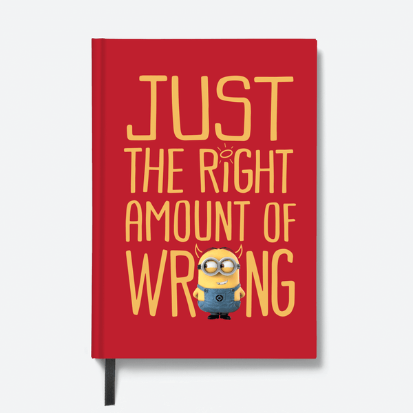 Hardbound Notebook - Right Amount of Wrong - Despicable Me/Minions