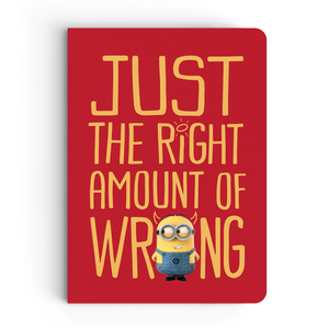Notebook - Right Amount of Wrong - Despicable Me/Minions