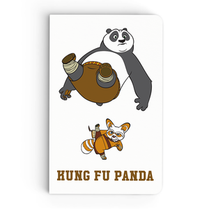 Thin Notebook - Shifu Kicks Panda - Kung Fu Panda