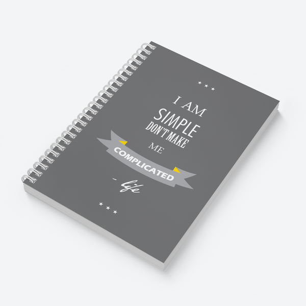 I Am Simple (Dark) - Wiro Quote Notebooks