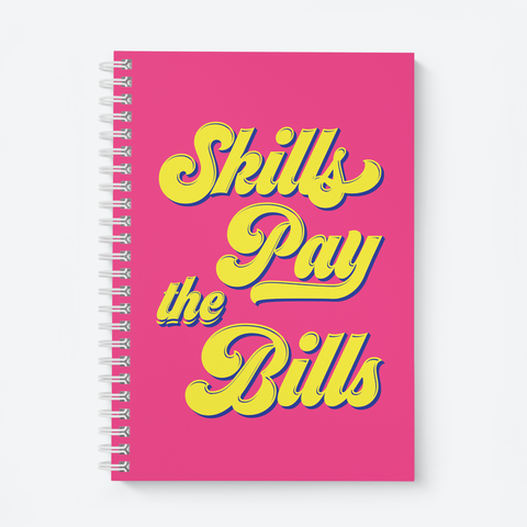 Skills Pay The Bills (Pink) - Wiro Quote Notebooks