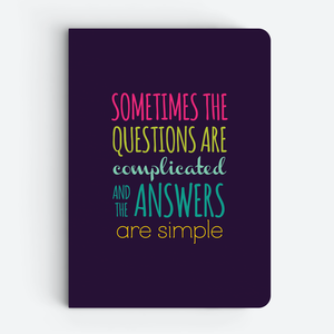 Sometimes (Blue) - Quote Notebooks