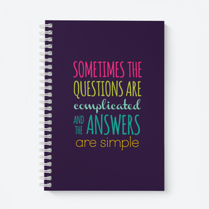 Sometimes (Blue) - Wiro Quote Notebooks