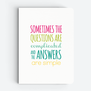 Sometimes (White) - Quote Notebooks