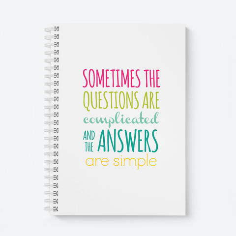 Sometimes (White) - Wiro Quote Notebooks