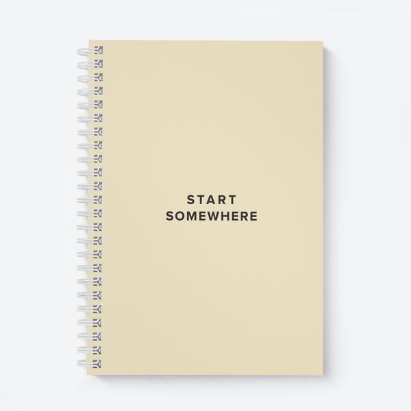 Start Somewhere - Wiro Quote Notebooks
