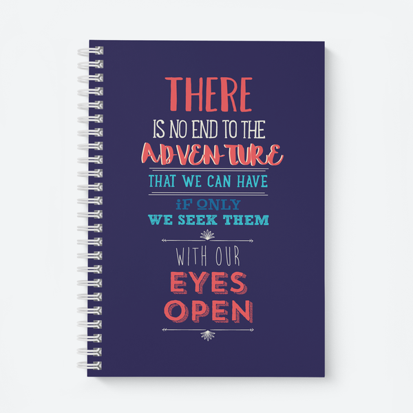 There Is No End - Wiro Quote Notebooks