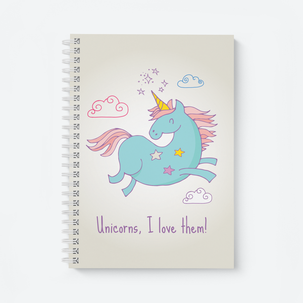 Unicorns, I Love Them (Light) - Wiro Notebook