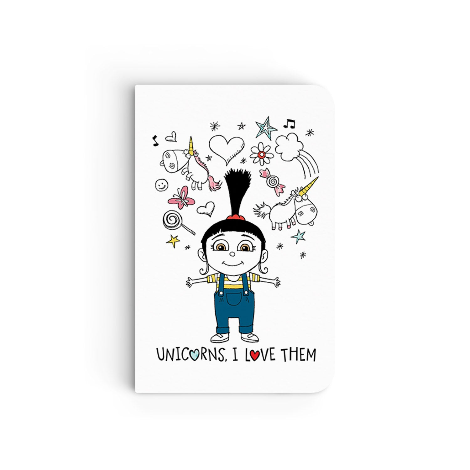 Flapbook Mini - Unicorns, I Love Them - Despicable Me/Minions