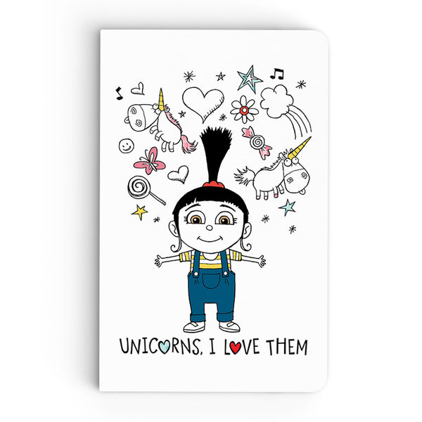 Flapbook Thin - Unicorns, I Love Them - Despicable Me/Minions