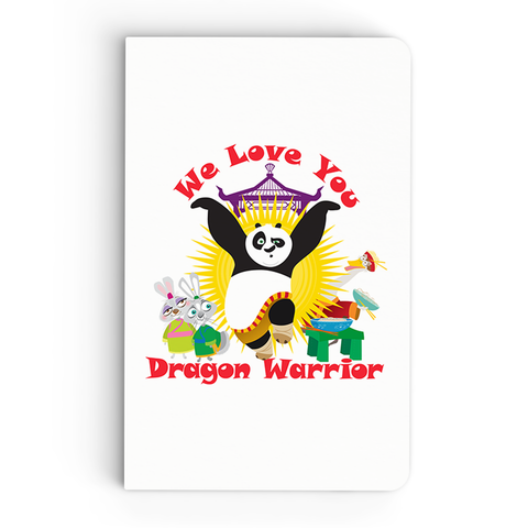 Thin Notebook - We Love You - Kung Fu Panda