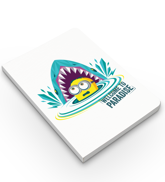 Softbound Notebook Minions welcome to paradise