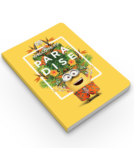 Softbound Notebook Minions- welcome to paradise
