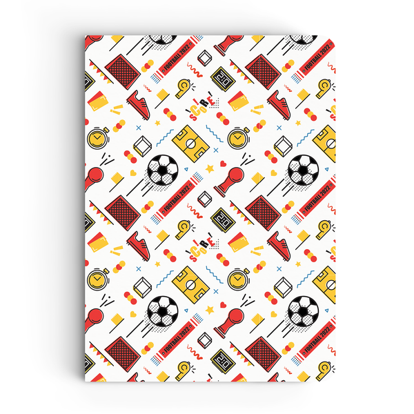 Born Genius & Football Pattern Combo - Pack of 2 - Softbound Notebooks