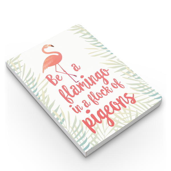 Flamingo Flock & Pattern Combo - Pack of 2 - Softbound Notebooks