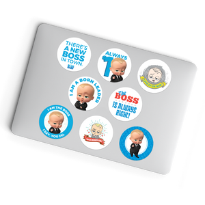 Laptop Stickers - 8 Different Boss Baby Glueless Laptop Stickers