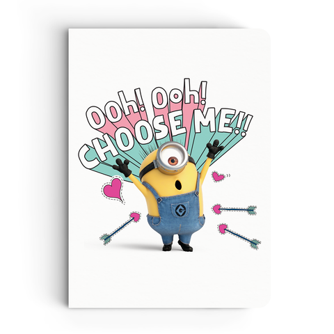 Limited Edition Notebook - Choose Me - Valentine's Day - Despicable Me/Minions