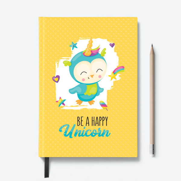 Happy Unicorn & Caticorn Combo - Pack of 2 - Hardbound Notebooks