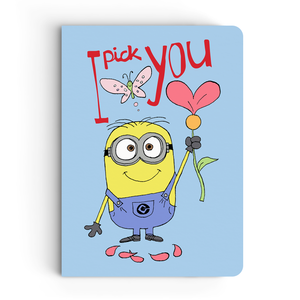 Limited Edition Notebook - I Pick You (Blue) - Valentine's Day - Despicable Me/Minions