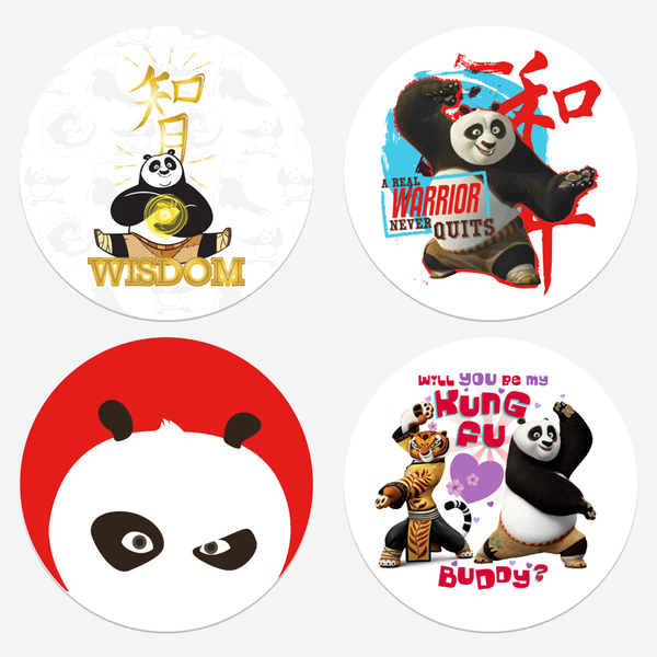 Laptop Stickers - 8 Different Kung Fu Panda Glueless Laptop Stickers