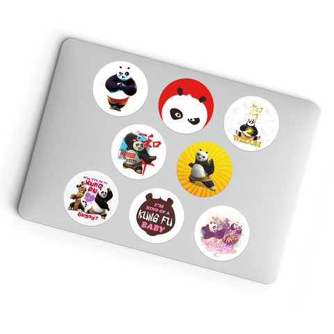Laptop Stickers - 10 Different Kung Fu Panda Glueless Laptop Stickers