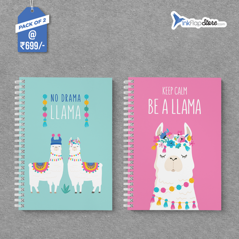 Happy Llama & No Drama Combo - Pack of 2 - Wiro Notebooks