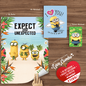 Love Combo - Notebook, Pocket Notebook and Poster
