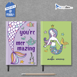 Mer-mazing & Make Waves Combo - Pack of 2 - Hardbound Notebooks