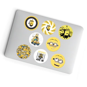 Laptop Stickers - 8 Different Despicable Me/Minions Glueless Laptop Stickers