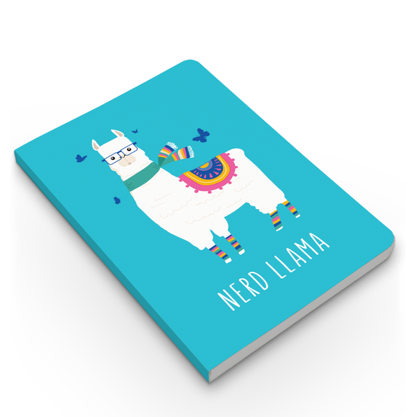 Love & Nerd Llama - Combo - Pack of 2 - Softbound Notebooks
