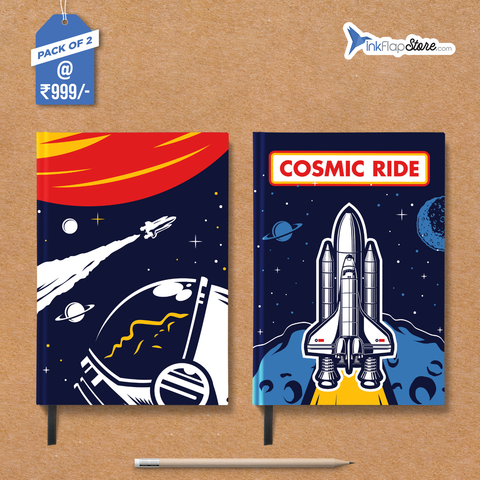 Cosmic Ride in Space Combo - Pack of 2 - Hardbound Notebooks