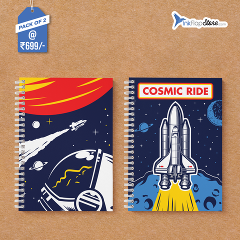 Cosmic Ride in Space Combo - Pack of 2 - Wiro Notebooks