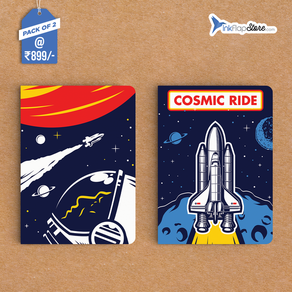 Cosmic Ride in Space Combo - Pack of 2 - Softbound Notebooks