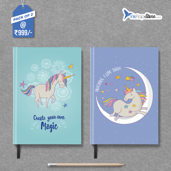 Create Magic & Love Unicorns Combo - Pack of 2 - Hardbound Notebooks