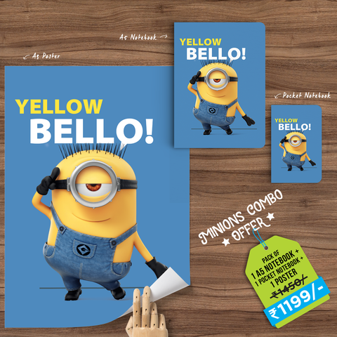 Yellow Bello Minions Combo - With Special Snowing® Effects - Despicable Me/Minions