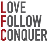 Love Follow Conquer logo