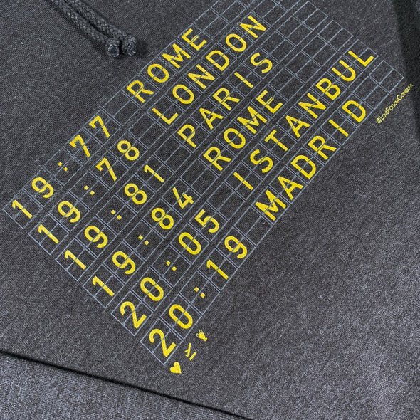 6 Times Classic charcoal hoodie
