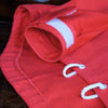 Red Smock Jacket with contrasting cuffs