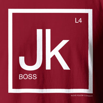 The Boss JK red t-shirt
